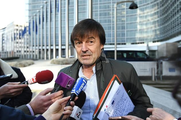 Le ministre de la Transition écologique Nicolas Hulot le 30 janvier 2018 à Bruxelles