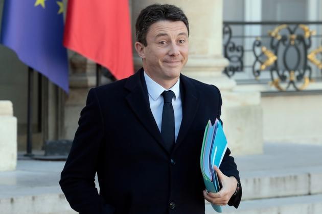 Benjamin Griveaux quitte l'Elysée après le conseil des ministres, le 13 février 2019