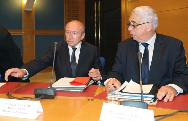 Le ministre de l'Intérieur Gérard Collomb est auditionné par le Sénat, le 24 juillet 2018