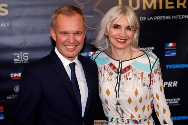 François de Rugy et son épouse le 5 février 2018 à Paris