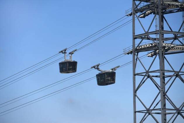 Le téléphérique urbain, le 22 janvier 2020 à Brest