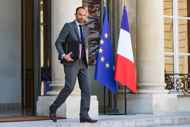 Edouard Philippe au Palais de l'Elysée à Paris le 3 août 2018