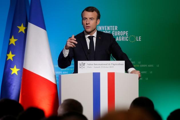 Emmanuel Macron s'exprime au Salon de l'Agriculture le 23 février 2019