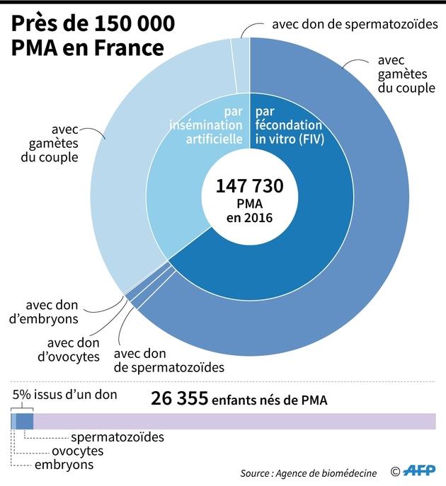 Près de 150 000 PMA en France