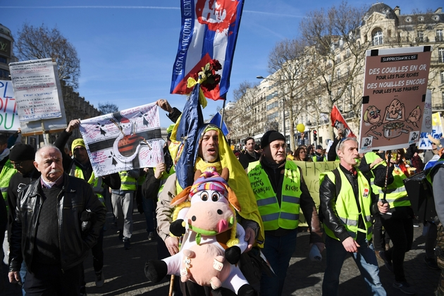 """Nouvelle mobilisation de """"gilets jaunes"""", le 17 février 2019 sur les Champs-Elysées à Paris"""