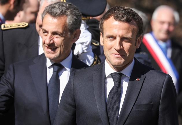Nicolas Sarkozy et Emmanuel Macron aux Glières le 31 mars 2019