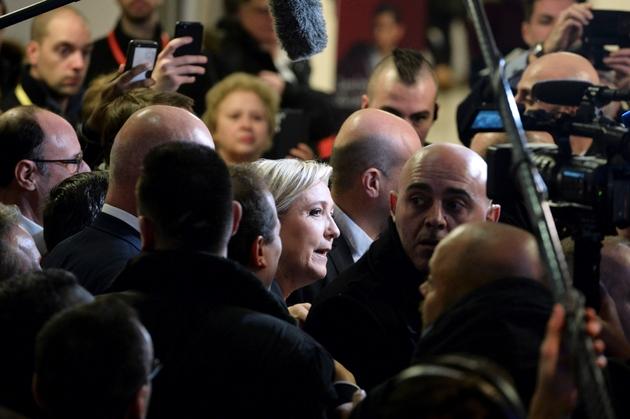 Marine Le Pen au Salon des Entrepreneurs à Paris le 1er février 2017