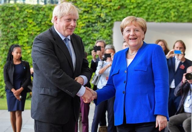 La chancelière allemande Angela Merkel et le Premier ministre britannique Boris Johnson, le 21 août 2019 à Berlin