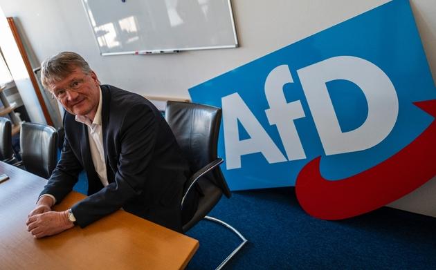 Jörg Meuthen, tête de liste du parti Alternative pour l'Allemagne (AfD), le 25 mars 2019 à Berlin