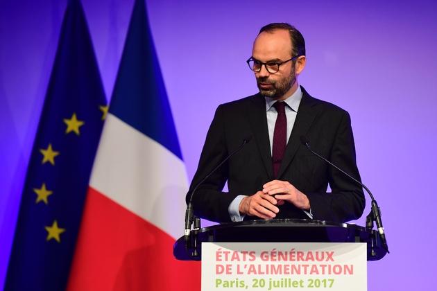 Le Premier ministre Edouard Philippe s'exprime à l'ouverture des Etats généraux de l'alimentation à Paris, le 20 juillet 2017