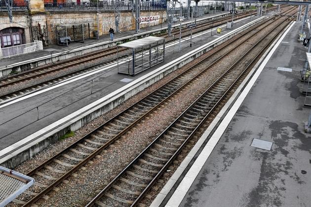 Jeudi noir prévu sur les rails, photo prise à la gare Saint-Jean de Bordeaux, le 3 avril 2018