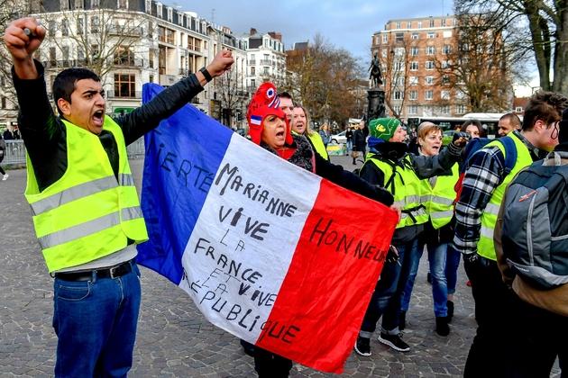 """Manifestation de """"gilets jaunes"""", à Lille, le 3 janvier 2019"""