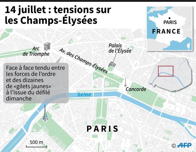 14 juillet : tensions sur les Champs-Elysées