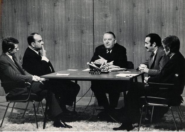 Une interview télévisée d'Alain Poher en 1969