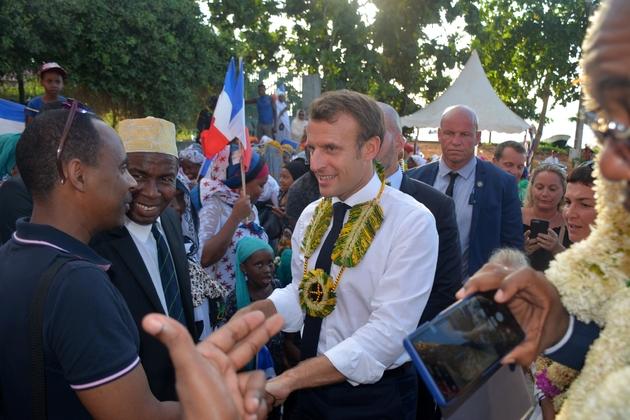 Le président Emmanuel Macron, à M'Tsamboro (Mayotte), le 22 octobre 2019