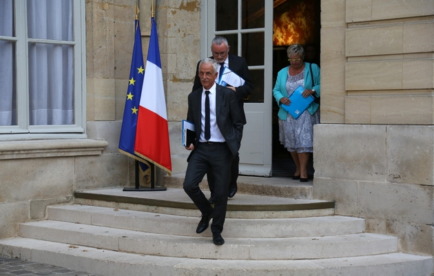 Le président de la CFTC Philippe Louis, à la sortie de son rendez-vous avec le Premier ministre le 29 août 2019