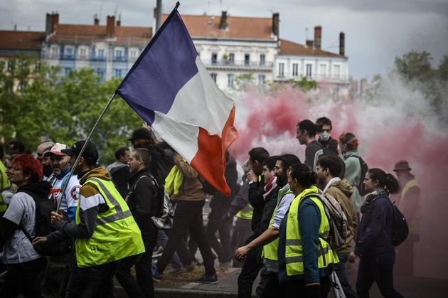 """Manifestation de """"gilets jaunes"""" à Lyon, le 11 mai 2019"""