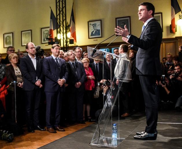 L'ex-Premier ministre et candidat à la primaire organisée par le PS, Manuel Valls, le 8 janvier 2017 à Liévin