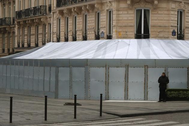Le Fouquet's sur les Champs-Elysées le 23 mars 2019