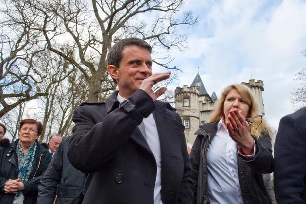 Manuel Valls en campagne le 10 janvier 2017 à Pessat-Villeneuve