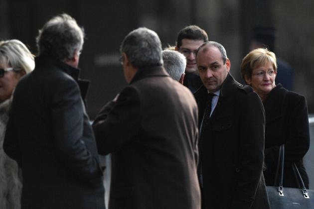 Laurent Berger et  Nicole Notat à leur arrivée aux obsèques de François Chérèque célébrées à l'église Saint-Sulpice le 5 janvier 2017 à Paris