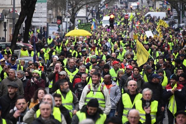 """Manifestation de """"gilets jaunes"""", le 12 janvier 2019 à Bordeaux"""