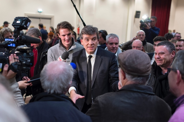 Arnaud Montebourg en campagne pour la primaire du PS le 7 décembre 2016 à Dijon