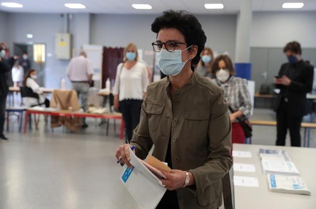 Rachida Dati vote au deuxième tour des municipales, le 28 juin 2020 à PARIS