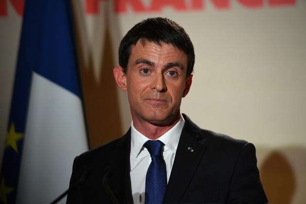 Manuel Valls, défait lors de la primaire élargie du PS, le 29 janvier 2017 à Paris