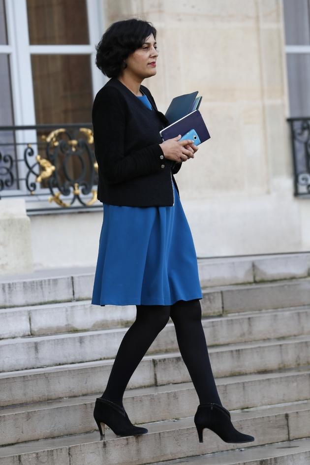La ministre du Travail Myriam El Khomri à Paris le 10 décembre 2016