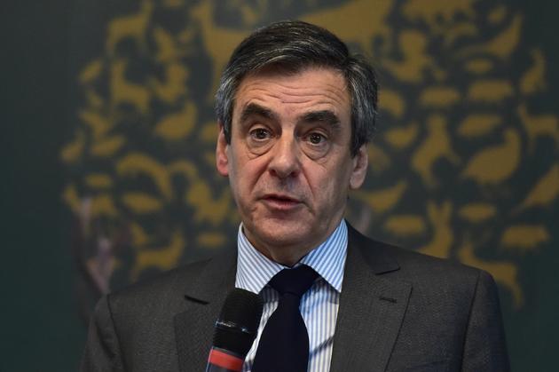 François Fillon devant la Fédération nationale des chasseurs le 14 mars 2017 à Paris