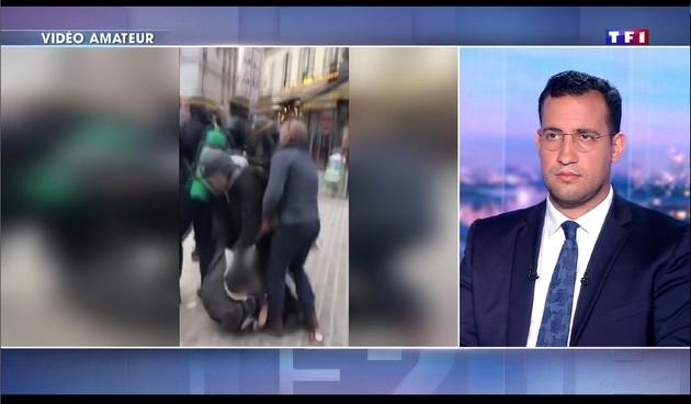 Capture d'écran réalisée le 27 juillet 2018 de l'interview d'Alexandre Benalla enregistrée et diffusée au 20H00 de TF1