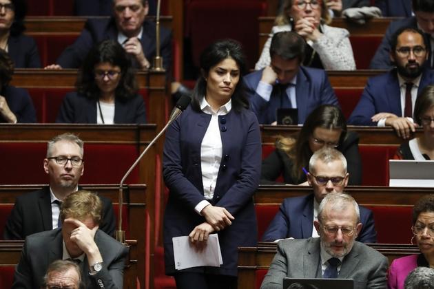 La députée LREM Sonia Krimi, lors d'une session de questions au gouvernement à l'Assemblée, le 19 décembre 2017
