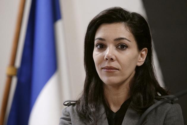 Sophia Chikirou, directrice de la communication de Jean-Luc Mélenchon, lors d'une conférence de presse le 25 janvier 2017, à Paris