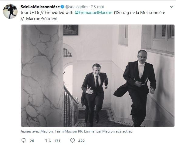 le president à l'Elysée (25 mai 2017) @sdelamoissonnière