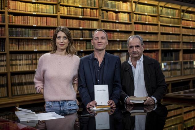 Adèle Van Reeth et ses invités François Bégaudeau et Pierre Rosanvallon