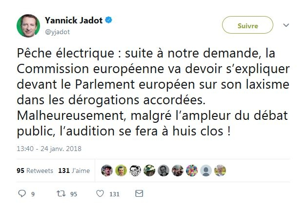 Tweet Jadot