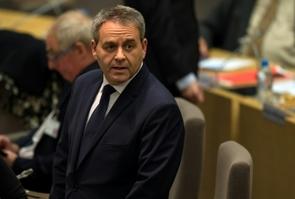 Le président de la région Nord-Pas-de-Calais-Picardie, Xavier Bertrand, à Lille le 4 janvier 2016