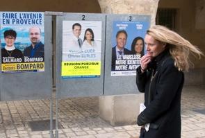 Marion Maréchal-Le Pen venue soutenir les candidats FN le 26 mars 2015 à Orange, dans le Vaucluse