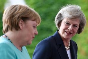 Angela Merkel reçoit Theresa May à Berlin le 20 juillet 2016