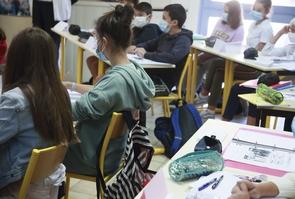 Rentree scolaire 2020, visite du college de Cuxac-Carbardes