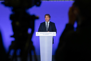 Paris: Press conference of Jacob (LR) to announce the results of the congress