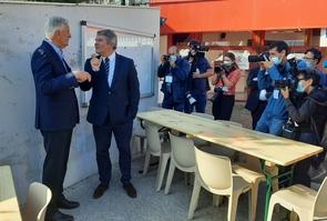 Michel Barnier et Franck Louvrier à La Baule
