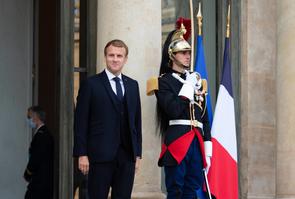 Paris Macron and Umaro Sissoco Embalo meeting