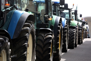 Manifestation d agriculteurs contre la PAC.