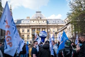 PARIS : Rassemblement de policiers