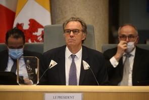Renaud Muselier last Conseil Regional in Marseille