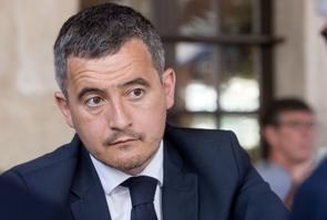 Deplacement de Gerald Darmanin ministre de l'Interieur pour soutenir le candidat de la majorite presidentielle Denis Thuriot aux elections regionales en Bourgogne-Franche-Comte