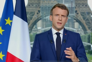 Paris: Macron delivers a speech during his national TV address on Covid-19