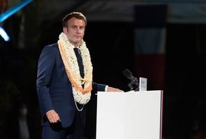 Papeete: Emmanuel Macron delivers a speech